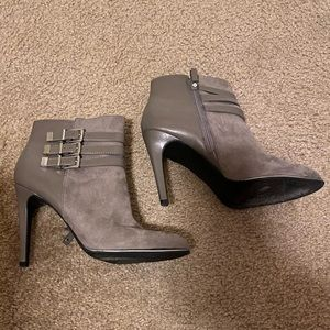 Sam & Libby Grey Ankle Boots Size 10